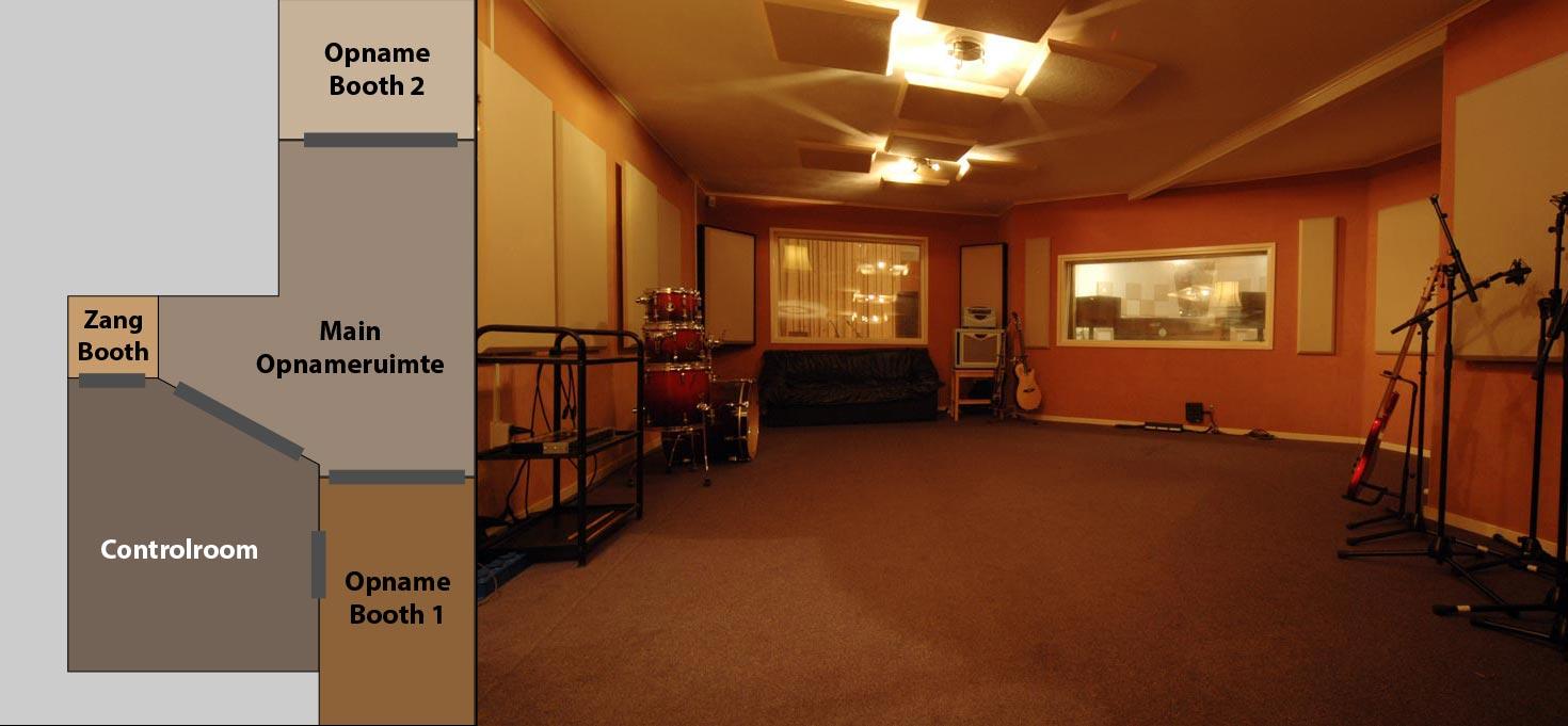 Opnamestudio muziekstudio recordingstudio studiobizz - Studio indeling ...